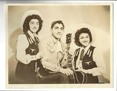 Father & Daughters Country Music Performers Photo 1950's