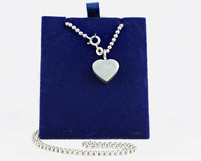 Sterling Silver Ball Chain Necklace with Heart Pendant