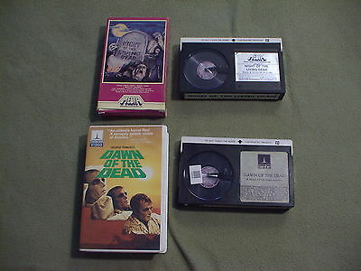 Night of the Living Dead & Dawn of the Dead Beta not VHS videos