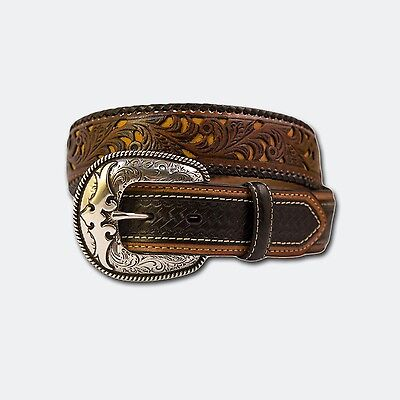 Brown Plait Weave Leather Belt Country Rodeo Fashion Cowgirl Cowboy Mens Ladies