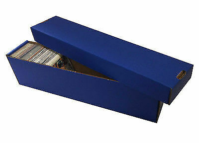 10 -  800ct 2pc Cardboard Vertical Baseball Trading Card Storage Boxes Max BLUE
