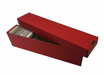 10 -  800ct 2pc Cardboard Vertical Baseball Trading Card Storage Boxes Max RED