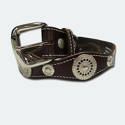Australian Made Round Concho Leather Belt Country Rodeo Fashion Cowgirl Cowboy