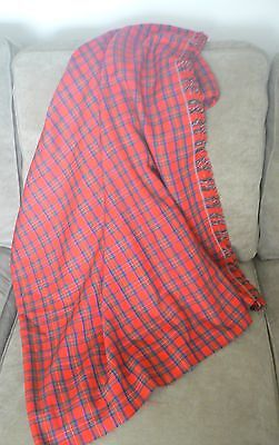 Light Weight Wool Red Plaid Material--Perfect for the Holidays