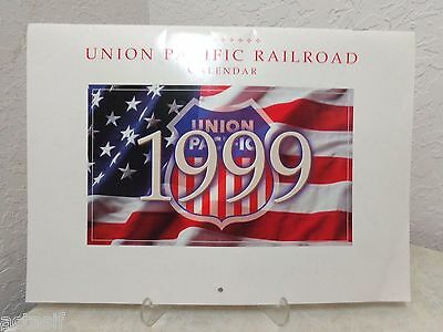 iconic 1999 UNION PACIFIC RAILROAD WALL CALENDAR never used