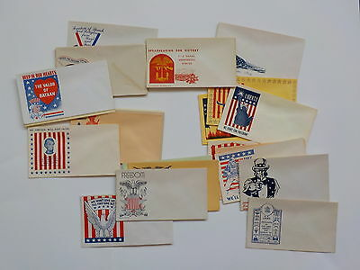 27 WWII Patriotic Covers Envelopes Unused Lot WW2 World War Two Collection VTG N