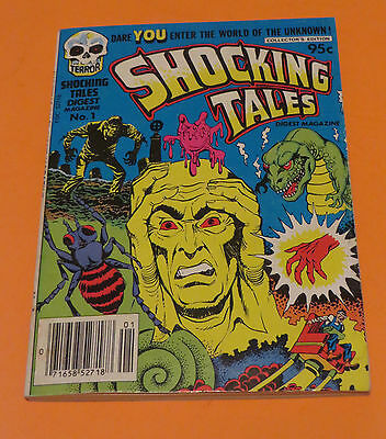 1981 Shocking Tales #1 Comic Book Horror Digest World Of The Unknown Harvey