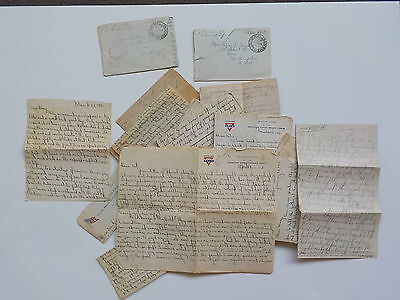22 WWI Letters 103rd Infantry AEF Soldier Joe Saunders WW1 Keene New Hampshire