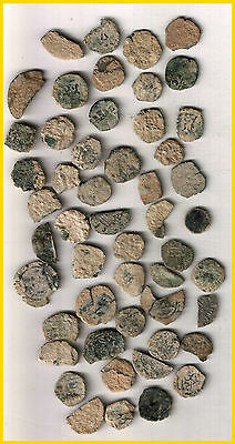 LOT  SPANISH COLONIAL PIRATE TREASURE COINS(a)UNCLEANED 50 PIECES