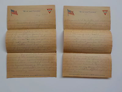 WWI Letter 1918  Over The Top First Time Saw German Shot WW1 103rd Infantry WW I