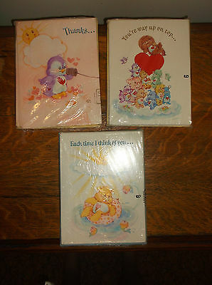 Care Bears Cousins 1983 issued American Greetings cards NOS Friendship lot 24