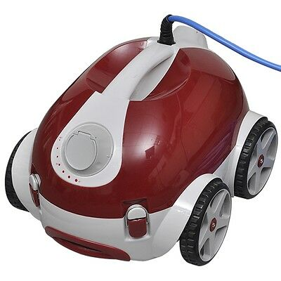 Robotic Electric Powered Pool Cleaning Robot Cleaner 150W Red Automatic Suction