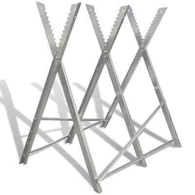 S# New Foldable Metal Saw Horse Trestle Stand Carpentry Support Woodworking No-s