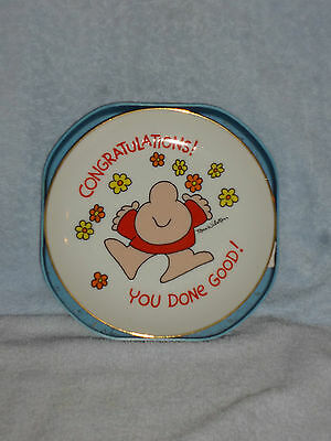 Ziggy Tom Wilson Congratulations! You Done Good Porcelain Plate in Tray