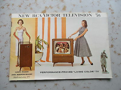 New RCA Victor Color Televisions Promotional Booklet - Circa 1957