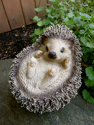 HEDGEHOG  CURLED UP  RESIN DECOR HOME YARD ORNAMENTS NEW Animal