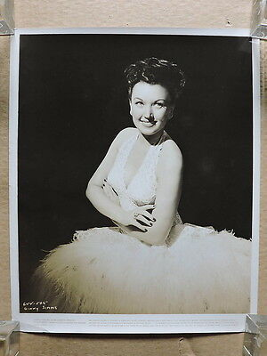 Ginny Simms original busty glamour studio portrait photo 1946 Night and Day