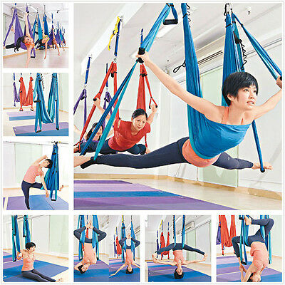 Inversion Therapy Anti-Gravity Aerial Yoga Fitness Swing Hammock Blue