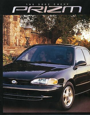 2002 Chevy Chevrolet Prizm Sales Brochure Literature Original
