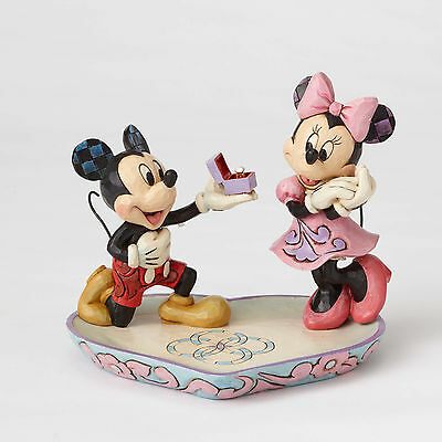 Disney Traditions Jim Shore Mickey & Minnie Mouse Proposes Ring Dish Figurine
