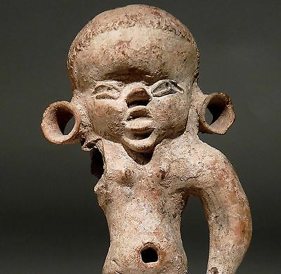 "OLMEC Pre Columbian Pottery Infant Figure Youth 550BC BIG 7""17½cm Centra lMexico"