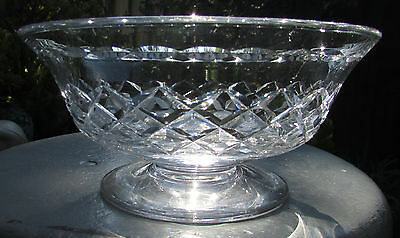 Stunning Diamond Cut Stuart Crystal Master  Bowl
