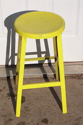 ANTIQUE  OR VINTAGE  METAL  STOOL  -- Rare --check thisout--