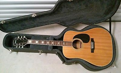 EPIPHONE FT-550 ACOUSTIC GUITAR EXCELLENTE Made in Japan MIJ + HARD SHELL CASE