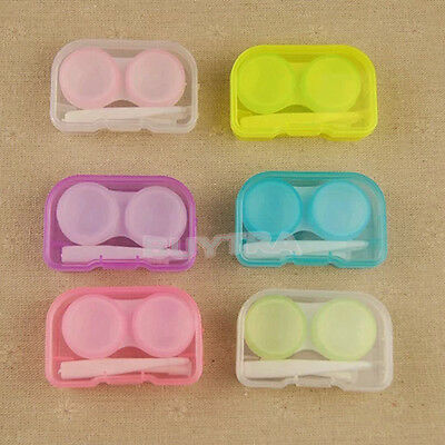 Transparent Cute Mini Contact Lens Case Storage Box Holder Container Gift