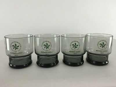 4 Waynesborough Country Club Member Guest 1972 Glasses Golf Course Bar Mancave