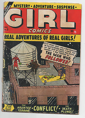 Marvel Atlas  Girl Comics  5  1950  Pre Code Crime  Girl Fight  Cornell