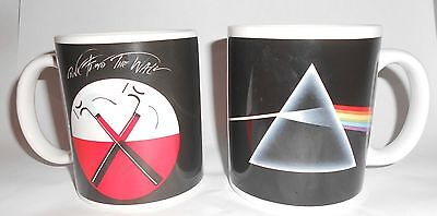 2-Pink Floyd Coffee Mugs The Wall Dark Side Of The Moon 2010  Used