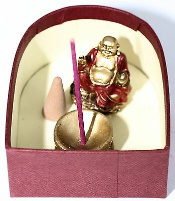 Buddha Laughing In Box For Good Luck And Money Includes Prayer Incense Sticks