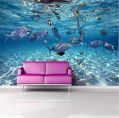 DIY 3D Wallpaper Bedroom Mural Roll Modern Luxury Sea World Home Wall Background