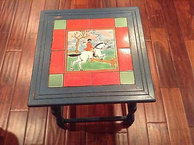 D&m Mission Tile Table Original Equestrian In Action