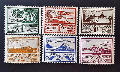 Jersey Set of Mint MNH and MHR Stamps Set CV £30.00