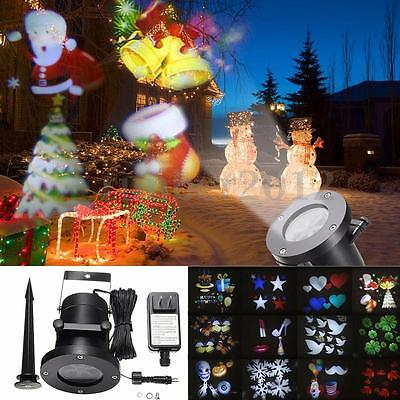 12 Pattern LED Moving Laser Projector Landscape Stage Light Party Xmas Outdoor
