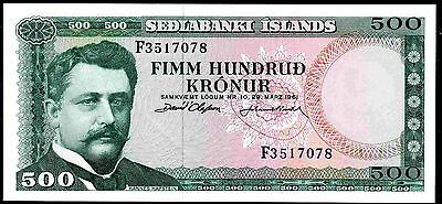 Iceland. 500 Kronur, F3517078, Nearly Extremely Fine.