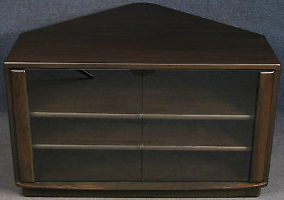 Ercol Elm Windsor 2120 Corner TV Stand Entertainment Cabinet Traditional Finish
