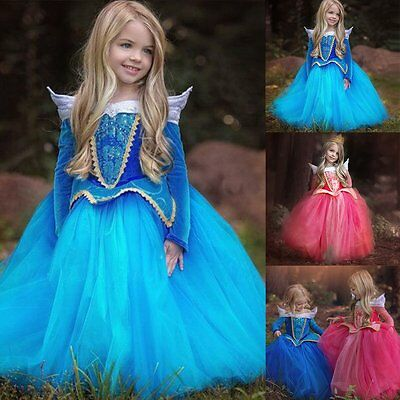 Flower Girl Pageant Party Wedding Birthday Princess Kid Formal Ball Gown Dress