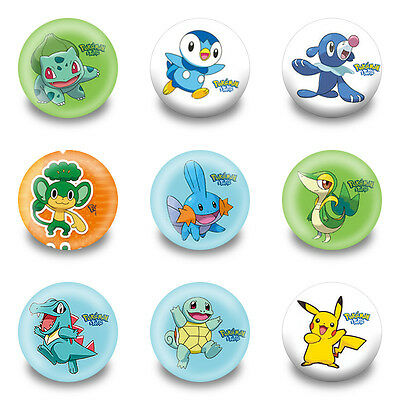 45pcs Pokemon Pikachu Pin Buttons Round Badges 30mm as Kids Christmas Party Gift