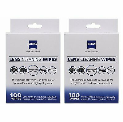 Original Zeiss 200 Pcs Pre Moist Lens Cleaning Wipes For Camera Glass Screen