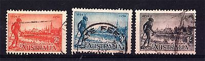 1934 Centenary Victoria Set Perf 11 1/2 Used (A68)