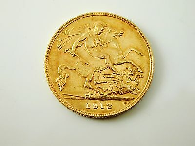 Half sovereign gold coin 22 carat gold dated 1912 George V 4.0 grams