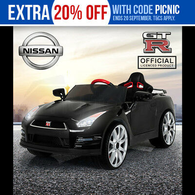 Kids Ride-On Electric Car Nissan GTR Licensed - GT-R Children Toy Sports Black