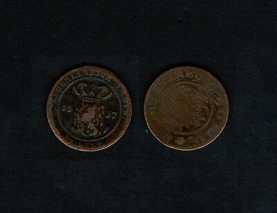 m5870 Netherlands East Indies 1/2 Cent 1857 William III 1849 - 1890