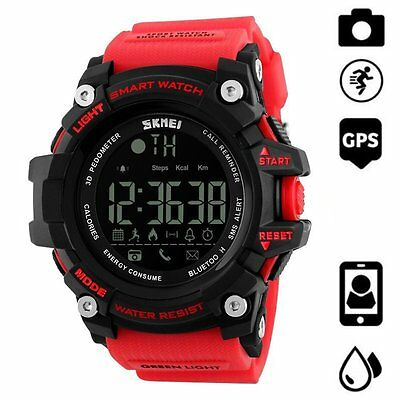 Waterproof Bluetooth Sport Smart Watch Phone Mate For IOS iPhone Android Samsung