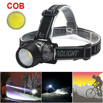 Bicycle Bike COB LED Headlight Front Torch Ride Riding Cycling Head Light Lamp
