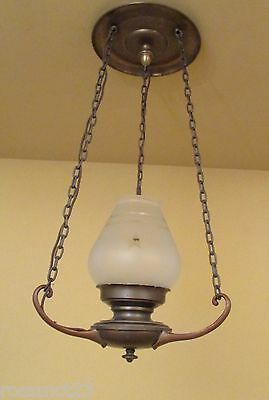 Vintage Lighting remarkable antique 1930s foyer or hall fixture