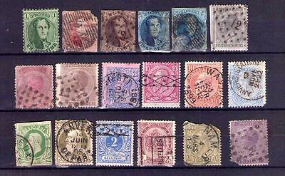 Collection Early Belgium Stamps 19thC Scarce Types? See Scan, Belgian